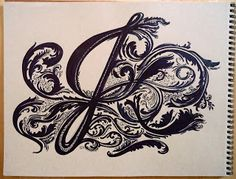 Hand Lettering, Drawings, Paintings and Life: Hand Lettered Letter J, Chunky