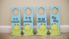 Frog Nursery Closet Dividers. $20.00, via Etsy.
