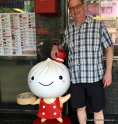 mascot at the original Din Tai Fung in Taipei, Taiwan