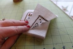 Learn to finish with the Twisted Stitcher - lots of how tos for finishing cross stitch