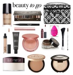 """""""Beauty to Go"""" by neirak ❤ liked on Polyvore featuring beauty, Petunia Pickle Bottom, Giorgio Armani, NARS Cosmetics, Laura Mercier, Too Faced Cosmetics, tarte, Becca, MAKE UP FOR EVER and Urban Decay"""