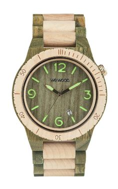 WeWOOD Alpha Army Green/Beige - Guaiaco Wood & Maple