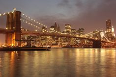 Love this print! (I actually already have this one. ;) ) Brooklyn Bridge, New York 8 x 12 Print Various Sizes Available. $12.00, via Etsy.