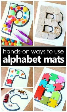 Hands-on ways to use alphabet mats...great ideas for reusing ABC mats for letter recognition activities.