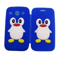 new3D penguin soft silicone flip cell phone case for samsung galaxy s3   1.food grade Silicone Case   2.Soft,durable,perfect fit