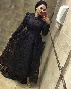 Hijab Prom Dress, Hijab Evening Dress, Hijab Wedding Dresses, Evening Dresses, Abaya Fashion, Muslim Fashion, Fashion Dresses, Mode Abaya, Mode Hijab