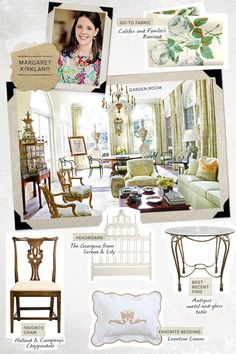 Margaret Kirkland: She knows how to relax a formal room and give it a casual, Southern spin.