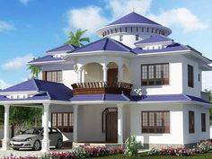 Simple House Exterior Design, 3d Home Design, Dream Home Design, Home Design Plans, Design Ideas, Design Design, House Design Drawing, Dream Home Gym, Plans Architecture