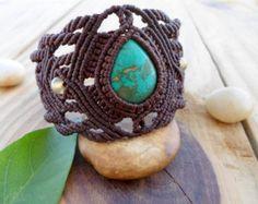 Labradorite macrame bracelet macrame armlet por SelinofosArt