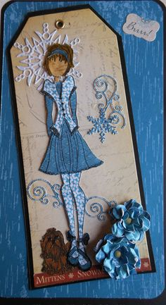 "Prima Doll ""January Days"" #LLCWRose      Another Simple Pleasure's Scrapbook Store Paper Doll Club doll.     Visit Simple Pleasures Rubber Stamps & Scrapbooking at https://www.facebook.com/simplestampnscrap   for more ideas and fun!!"