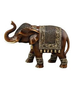 Brown Elephant Figurine