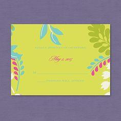 Garden Glamour Respond Card and Envelope weddingneeds.carlsoncraft.com