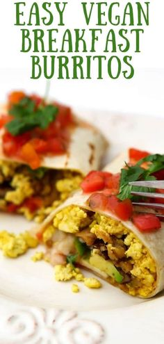 One bite of this vegan breakfast burrito and you won't want anything else for breakfast ever again. Vegan scrambled eggs, vegan breakfast sausage crumbles, mushroom bacon, salsa, vegan cheese, avocado, and cilantro rolled up into a savory masterpiece that can be eaten immediately or frozen for easy microwavable breakfasts on busy mornings! #thehiddenveggies Microwave Breakfast, Breakfast Dishes, Sausage Breakfast, Best Vegetarian Recipes, Whole Food Recipes, Healthy Recipes, Family Recipes, Vegan Junk Food, Vegan Comfort Food