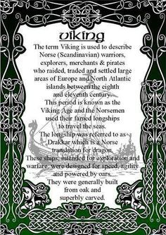 First husband was Norwegian. The Vikings. The ones that raided and pillaged the innocent villagers. Norse Pagan, Old Norse, Norse Mythology, Viking Life, Viking Warrior, Iron Age, What Is A Viking, Viking Facts, Viking Quotes