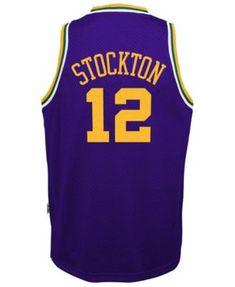 f744d24fb112 adidas Big Boys John Stockton Utah Jazz Retired Player Swingman Jersey -  Purple XL