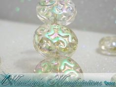 {10} Clear Flat round Crystal Beads w/ Full Plated Fini. Starting at $5 on Tophatter.com!