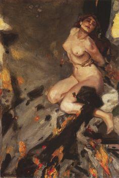 Descent into Hell 1912 Albert von Keller