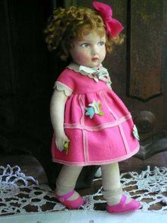 Antique felt RAYNAL doll