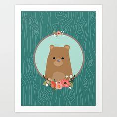 Bear+Art+Print+by+MiniMoons+-+$20.80