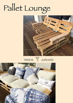 DIY palletsofa Lounge for inside and outside. inside lounge outside palletideas palletsofa. Pallet Garden Furniture, Balcony Furniture, Diy Outdoor Furniture, Diy Furniture, Furniture Vintage, Furniture Projects, Pallet Furniture For Outside, Pallet Ideas For Outside, Vintage Couches