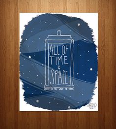 """All of Time & Space"" Doctor Who Art Print 