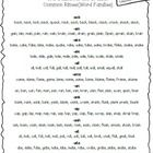 I created this handy reference sheet of Common Rimes and real words in each rime family. Not only do I access it daily, but I give it to students t...