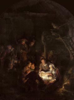 Поклонение пастухов. Харменс ван Рейн Рембрандт
