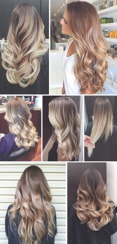 ombre hair ideas. all long and wavy and fabulous. and frizz-free!