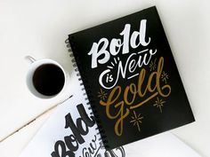 Typography  Bold And Gold