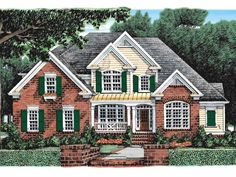 Eplans New American House Plan - Great Covered Porches - 2900 Square Feet and 4 Bedrooms from Eplans - House Plan Code HWEPL10543