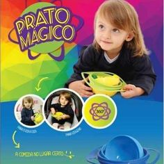 O prato mágico é voltado para crianças de 0 a 6 anos. Evita que o alimento caia no chão, devido seu sistema orbital de 360º, torna o momento da refeição divertido e sem sujeira.Aproveitem o desco…