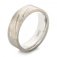 Custom Mokume Inlay Men's Band   Joseph Jewelry   Bellevue   Seattle   Online   Design Your Own Wedding Ring