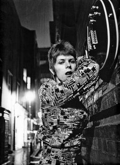 "David Bowie ""ZIGGY STARDUST"" Photos outtakes at Heddon Street of London. Photos by Brian Ward."