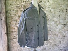 Vintage French Military chore canvas jacket by AtelierHope on Etsy