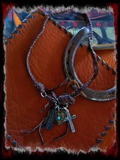 Bohemian Cowgirl Braided Leather Necklace with by LivingFreeByEP, $58.00