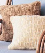 "Free pattern for ""Basketweave Pillows""!"