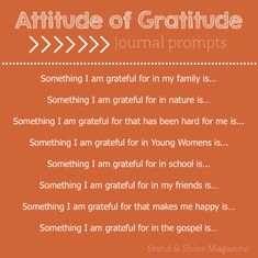 "Stand & Shine Magazine: ""Attitude of Gratitude"" Journal Prompts Gratitude Journal Prompts, Gratitude Quotes, Attitude Of Gratitude, Writing Challenge, Self Development, Writing Prompts, Self Help, Affirmations, Gift"