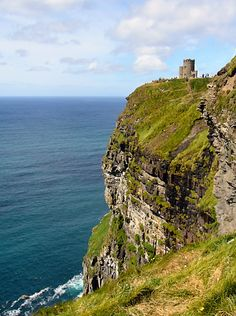 Cliffs of Moher....Gallway, Ireland is exactly what you imagine Ireland to be, green & stunning!