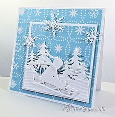 Very nice Christmas cut card