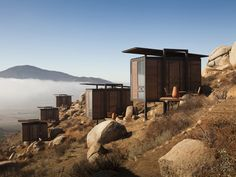 The eco hotels in Baja California purposefully have a tiny footprint  on the beautiful landscape