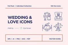 Series of 100 pixel-perfect icons, created by influence of the Valentine's Day, Weddings & Love. This set includes icons of love, Valentine's day cards, Wedding Ceremony Ideas, Wedding Car, Cake Wedding, Wedding Bride, Church Wedding, Wedding Blog, Valentines Day Weddings, Valentine Day Cards, Icon Set
