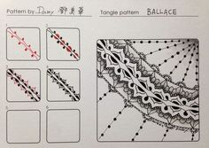 tangle patterns step by step - Google Search