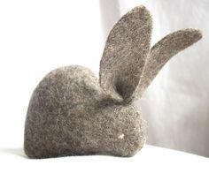 organic felt bunny