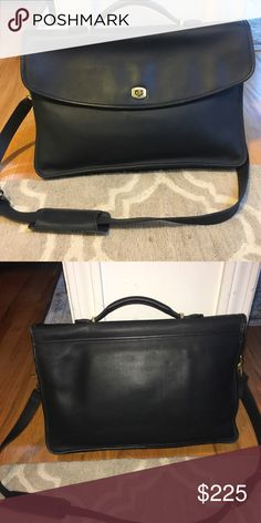 Authentic Coach women's briefcase Black leather, barely used Coach Bags Travel Bags