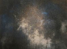Antarctic Night Sky, Gold Man, 72 × 96 in, 183 × 244 cm. Glitter Paint, Create Words, Paintings For Sale, Night Skies, Sky, Gallery, Gold, Heaven
