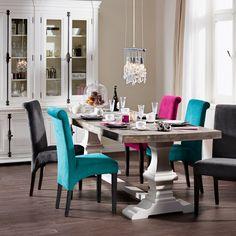 High Noon jídelní židle / dining room Dining Chairs, Dining Room, Dining Table, High Noon, Indoor, House Design, Furniture, Home Decor, Turquoise