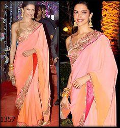 #DeepikaPadukone in Designer Saree
