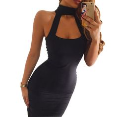 Halter Hollow Bodycon Dress  Free Shipping   #mensfashion #menswear #menstyle #mens #mensstyle #womensfashion #womenstyle #womens #stylish #styles #styleblogger #fashion #fashionblogger #simplmrkt https://goo.gl/oY5SQZ www.SIMPLMRKT.com