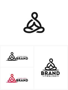 Meditation Logo Template . Logo Templates