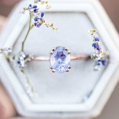 Pear Sapphire Engagement Ring Set Two Tone Gold Floral Rings Blue Sapphire Ring with Matching Diamond Band - Fine Jewelry Ideas Cute Jewelry, Jewelry Rings, Jewelry Accessories, Jewlery, Diamond Jewelry, Rose Gold Jewelry, Jewelry Shop, Wedding Accessories, Jewelry Ideas